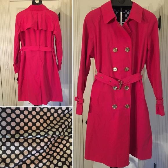 e289a4e364949 Isaac Mizrahi Jackets   Blazers - Isaac Mizrahi Pink Raincoat with Polka Dot  Lining